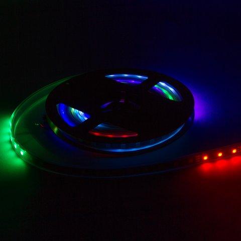 Світлодіодна стрічка RGB SMD5050, WS2811 (біла, з управлінням, IP67, 12 В, 60 діодів/м, 5 м) Прев'ю 1