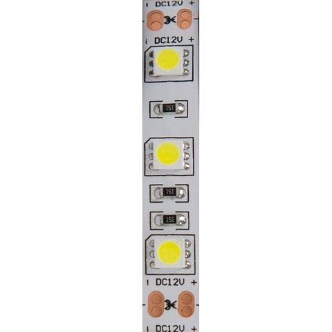 Світлодіодна стрічка SMD5050 (холодний білий, 60 світлодіодів, 12 В DC, 1 м, IP20) Прев'ю 1