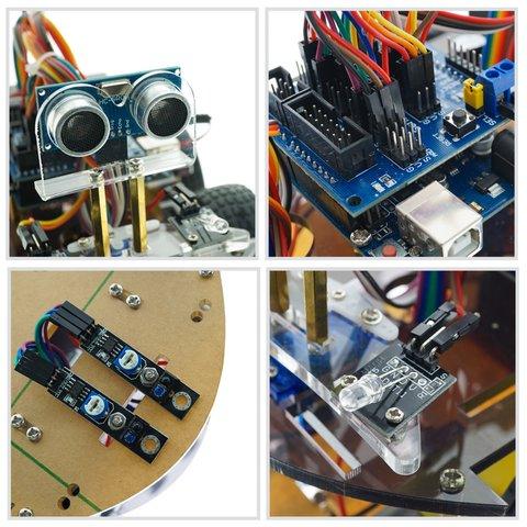 Конструктор Arduino Розумна машинка з Bluetooth-керуванням + посібник користувача Прев'ю 1