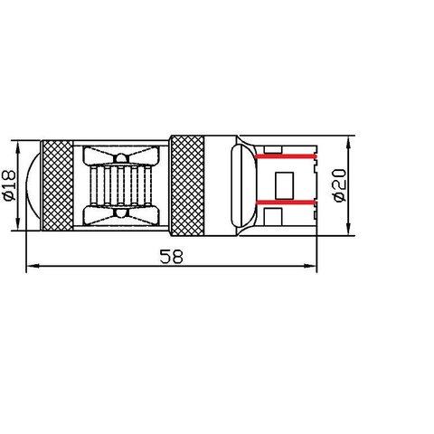 Car Rear-End Brake LED Lamp UP-7G-T20DWB-30W(7443) (white, 12-24 V) Preview 1